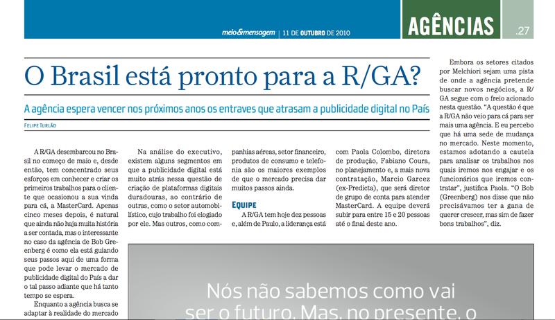 O Brasil esta pronto para a RGA